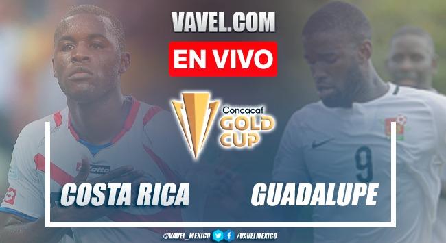 Resumen y goles: Costa Rica 3-1 Guadalupe en Fase de Grupos de la Copa Oro 2021