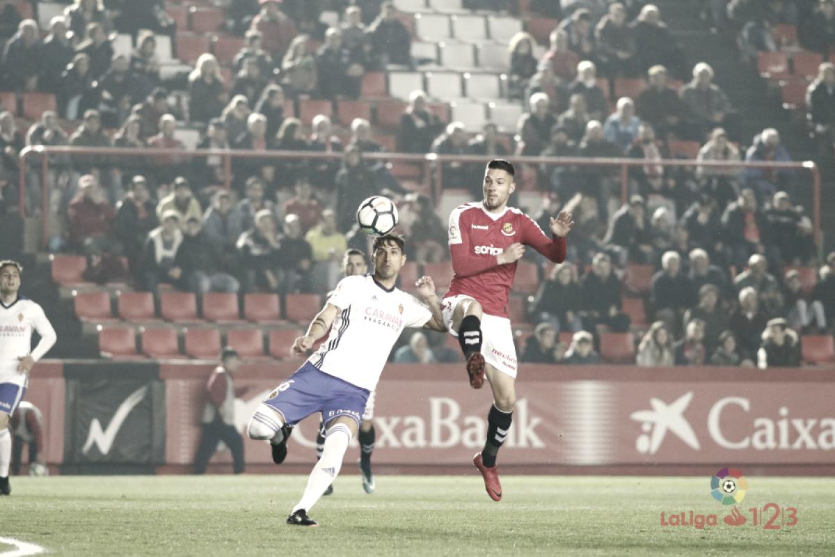 Nástic de Tarragona-Real Zaragoza: puntuaciones del Real Zaragoza, jornada 27 de la Liga 1,2,3