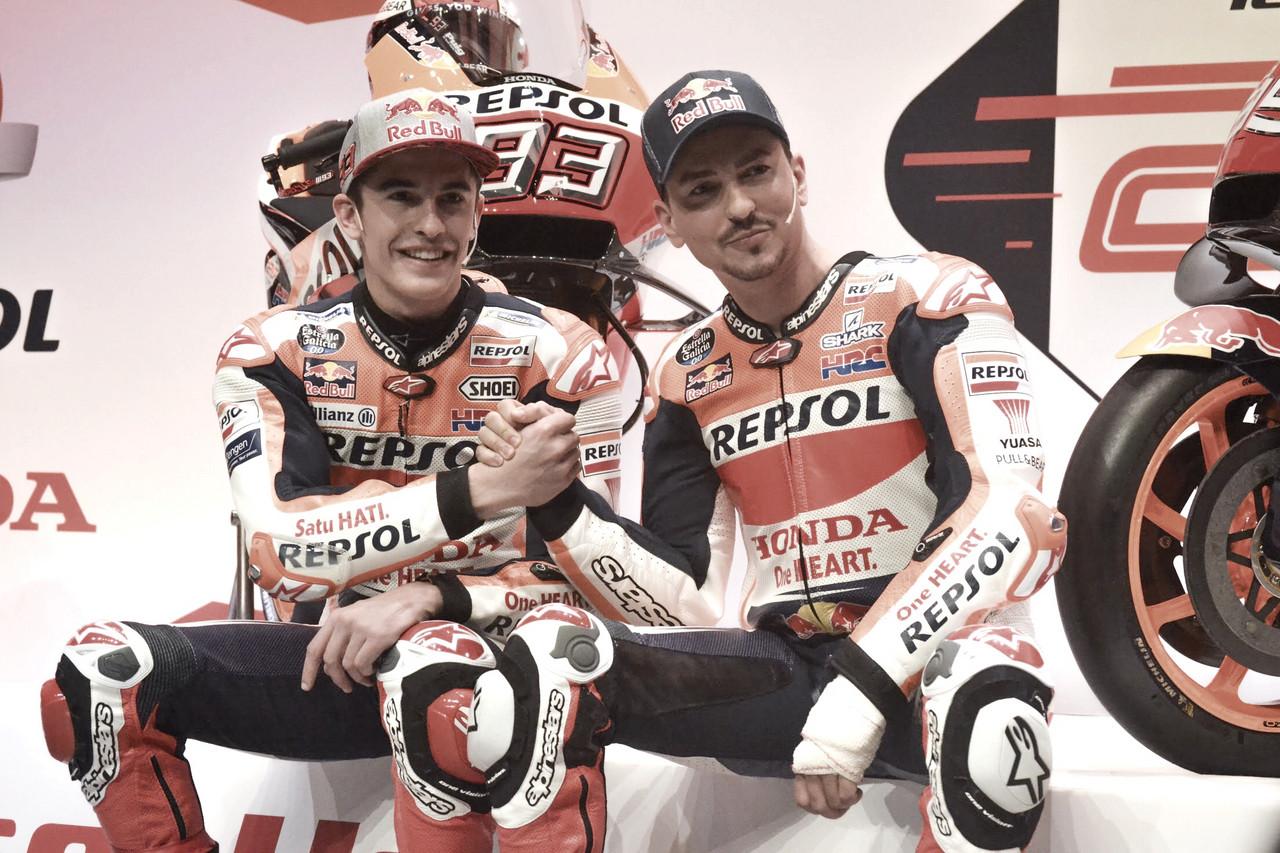 Honda presenta sus filas para el 2019 con Márquez y Lorenzo