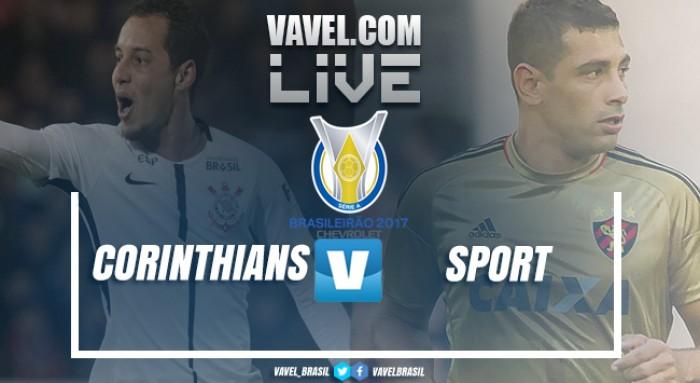 Resultado Corinthians x Sport pelo Campeonato Brasileiro 2017 (3-1)