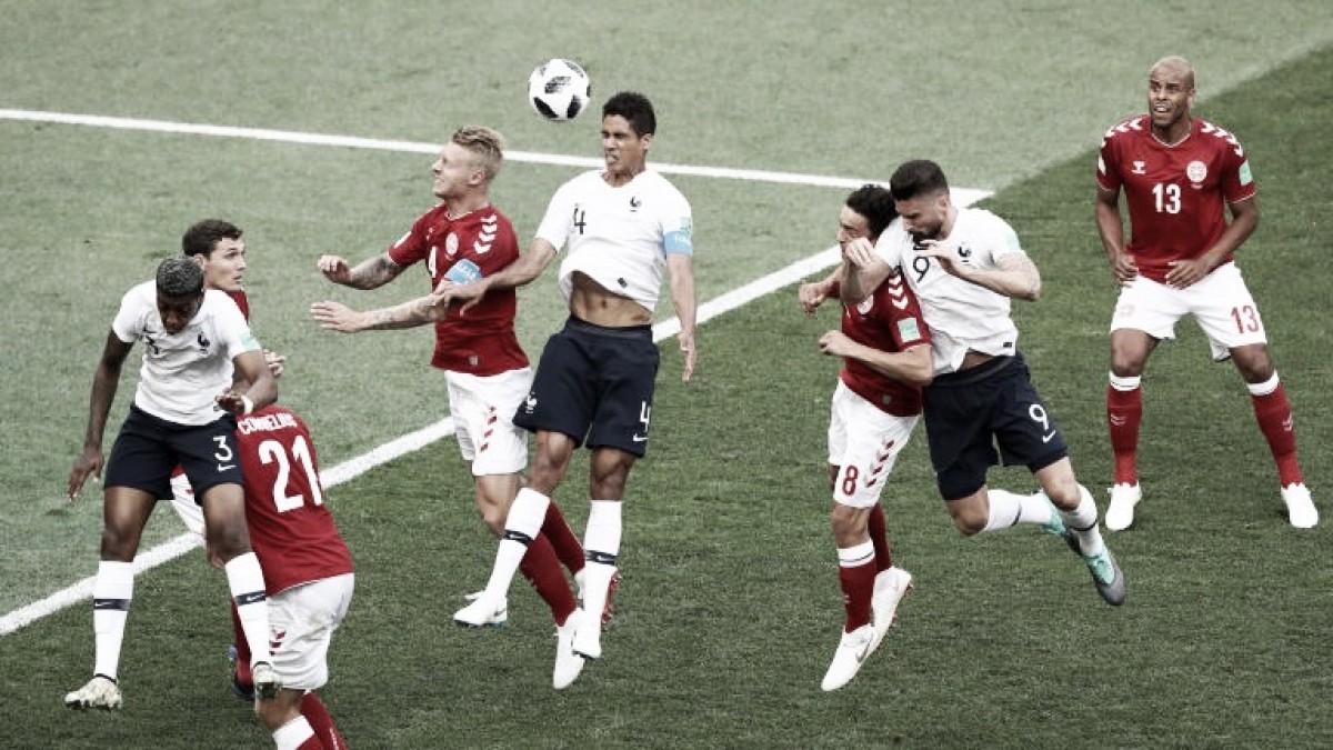 França e Dinamarca avançam às oitavas no primeiro jogo sem gols da Copa