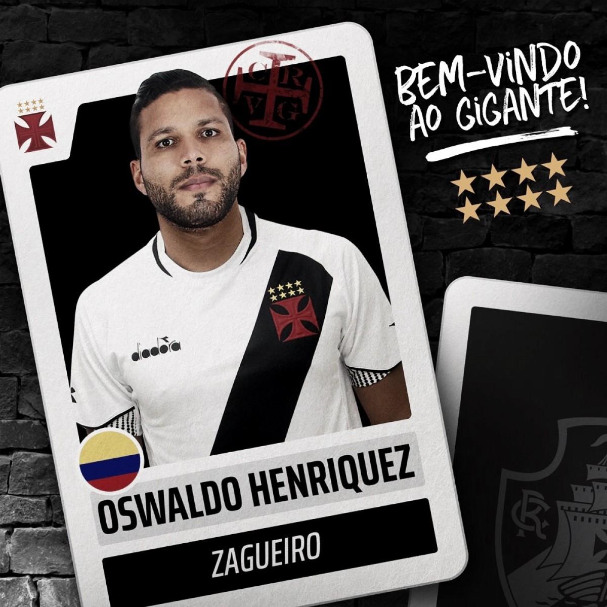 Vasco confirma reforço do zagueiro Oswaldo Henríquez, ex-Sport