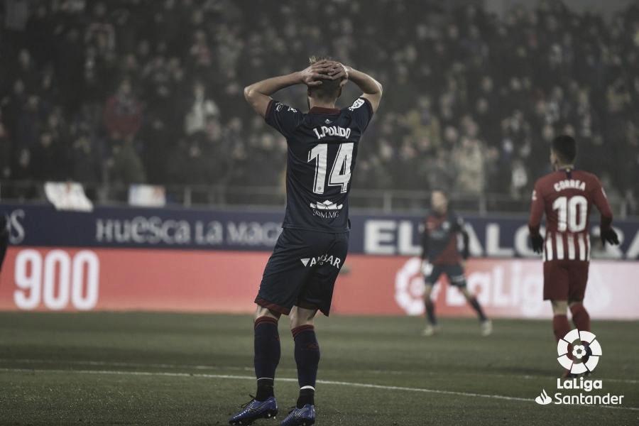 Jorge Pulido ante el gol del Atlético de Madrid en la temporada 2018/2019. Foto: LaLiga.