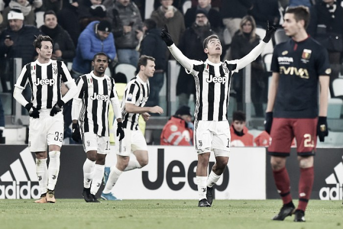Dybala volta ao time titular, Juventus domina Genoa e avança de fase na Copa Itália