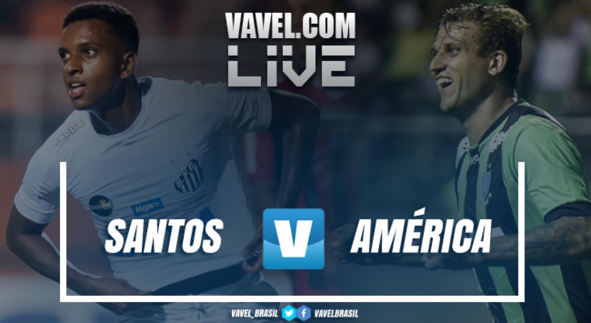 Resultado Santos 0 x 1 America-MG pelo Campeonato Brasileiro