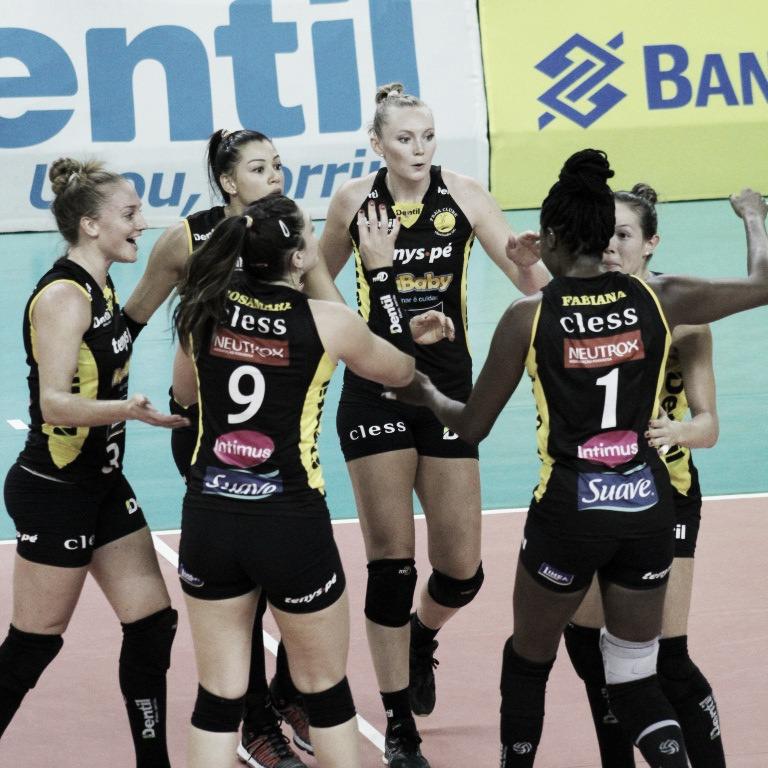 Segue o líder! Dentil/Praia Clube venceBRB/Brasília Vôlei pela Superliga feminina