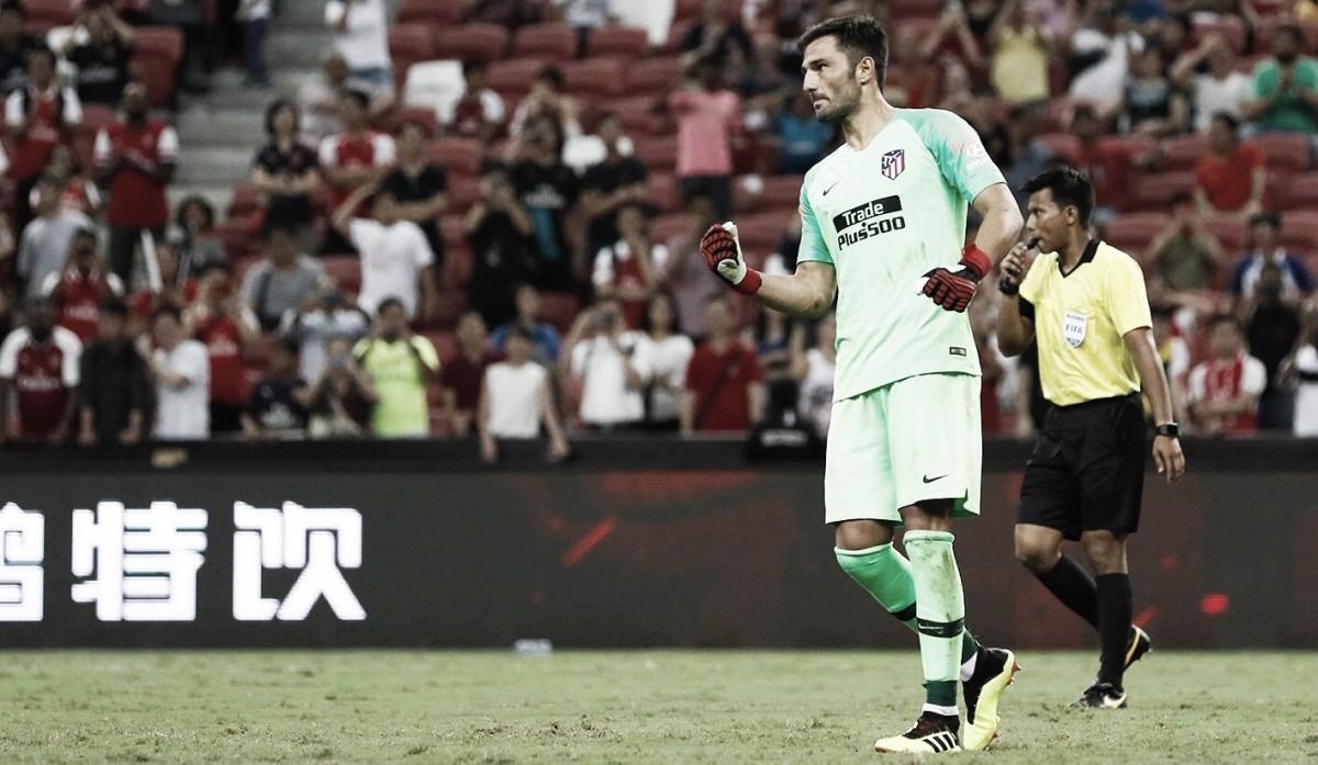 Adán decide nos pênaltis e Atlético de Madrid vence Arsenal pela Champions Cup
