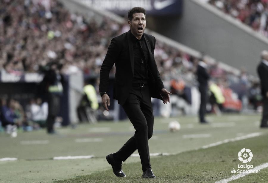 """Simeone respecto al Betis: """"Habrá gente con entusiasmo de mostrarse"""""""