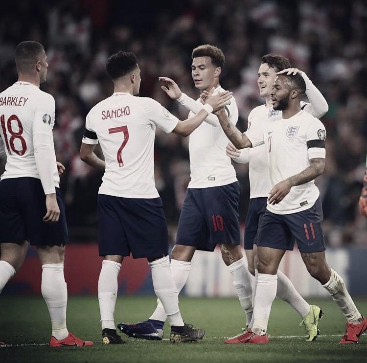 Com hat-trick de Sterling, Inglaterra goleia Republica Tcheca pelas Eliminatórias da Euro2020