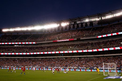 Philadelphia showed up and showed out for the USWNT | Source: Matt Slocum-AP