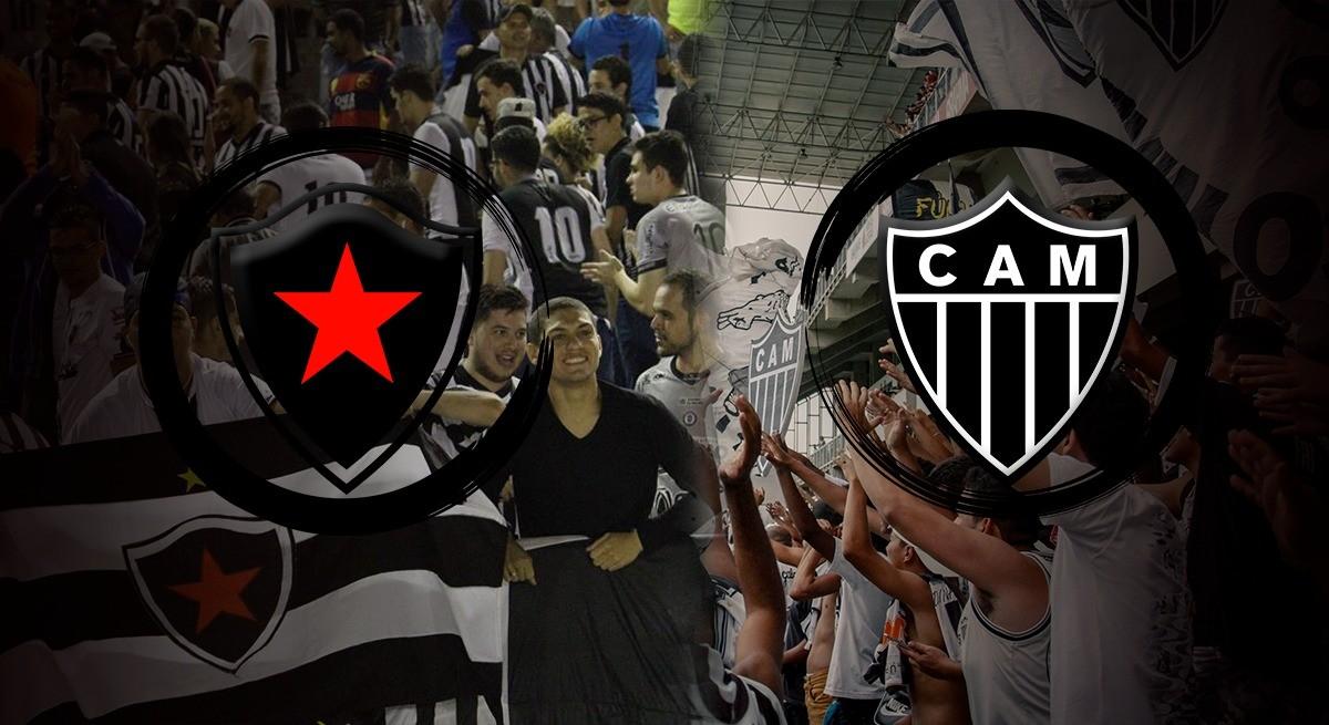 Em jogo único, Botafogo-PB e Atlético-MG se enfrentam esta noite pela Copa do Brasil