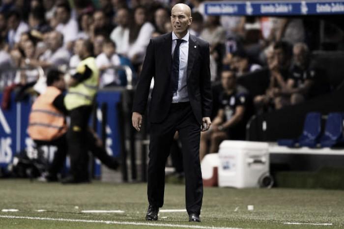 Após estreia com vitória na Liga, Zidane reforça desejo de manter 100% de seu elenco
