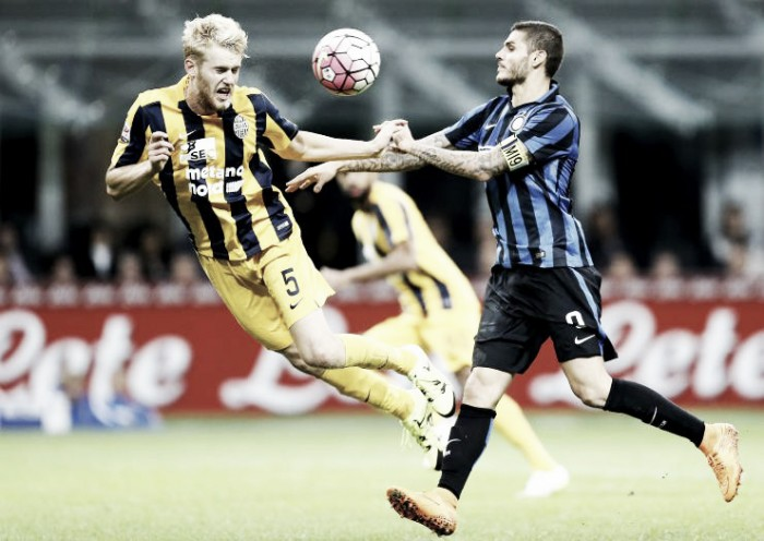 Hellas Verona Vs Inter in Serie A 2015/2016: rimonta Inter: Perisic agguanta il 3-3