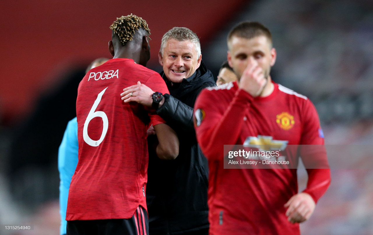 Solskjaer reflects on his reds running riot against Roma