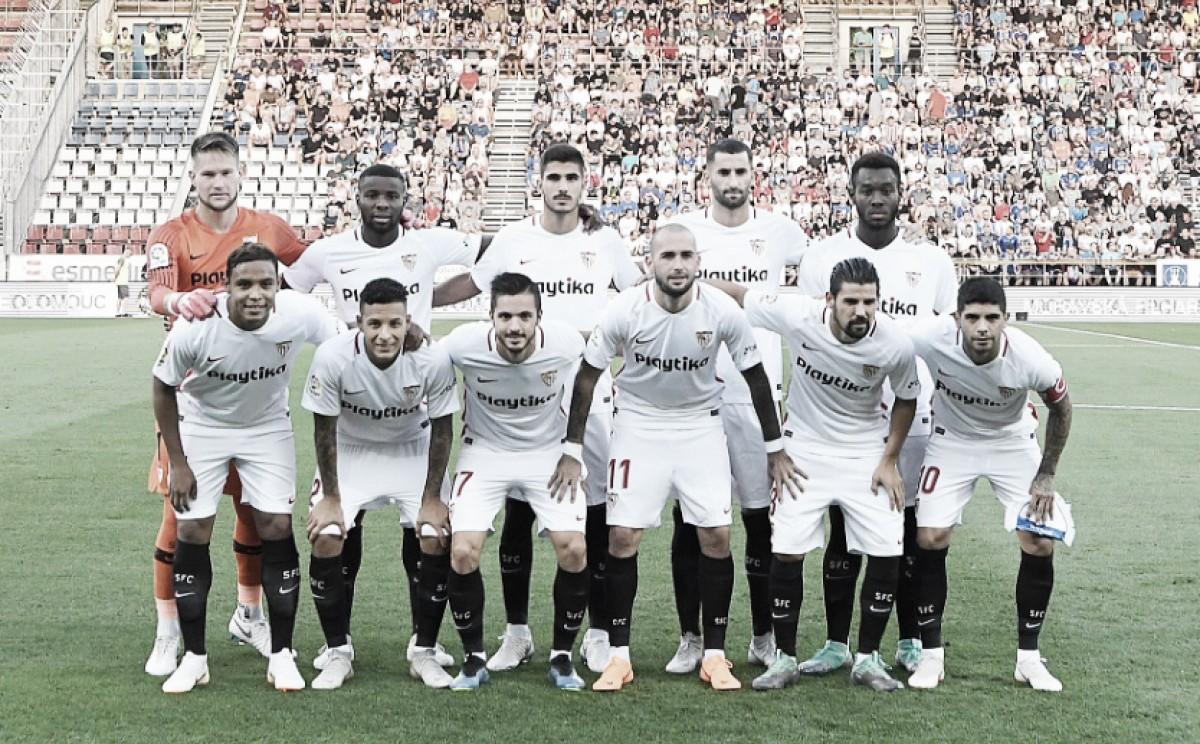 Sigma Olomouc - Sevilla FC, puntuaciones del Sevilla, ida de la ronda previa de la Europa League