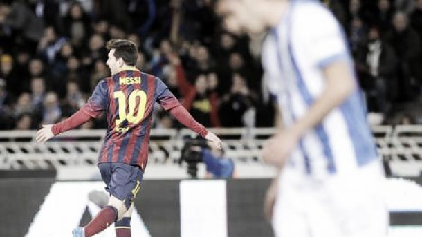 Com gol de Messi, Barça empata com Sociedad e enfrentará Real Madrid na final