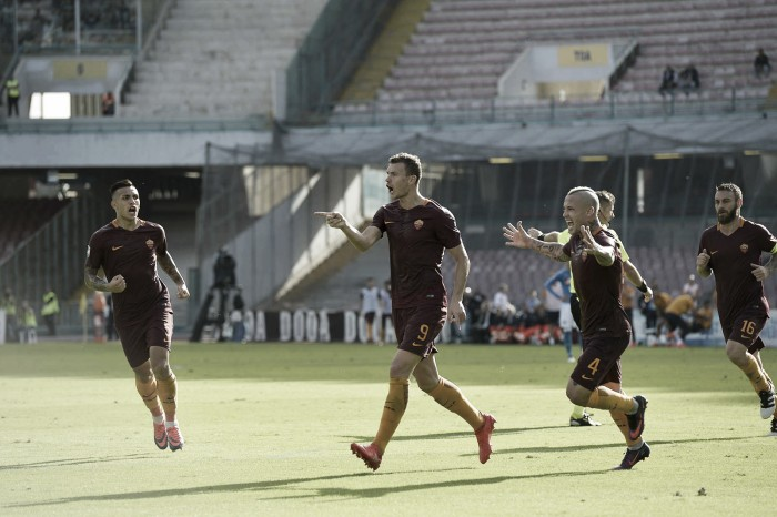 Dzeko decide, Roma vence Napoli fora de casa e ultrapassa rival na tabela da Serie A