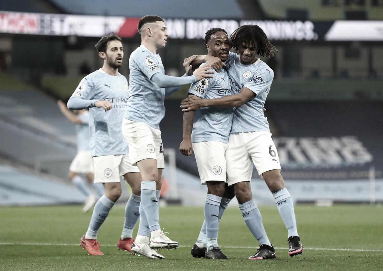 Sterling anotó el único gol del encuentro. / Foto: @premierleague