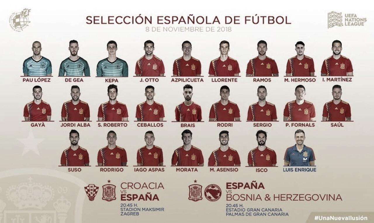 Luis Enrique anuncia convocação da Espanha para últimas partidas do ano