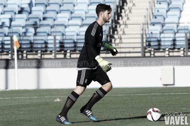 Carlos Abad jugó sus primeros minutos con el Real Madrid Castilla