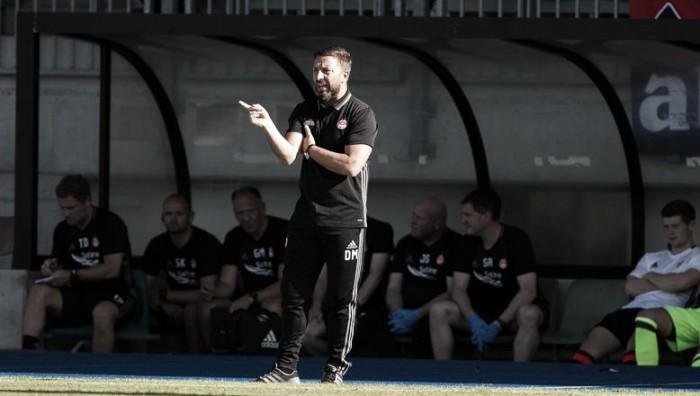 """Apesar da classificação, técnico Derek McInnes reprova atuação do Aberdeen: """"Ficamos devendo"""""""