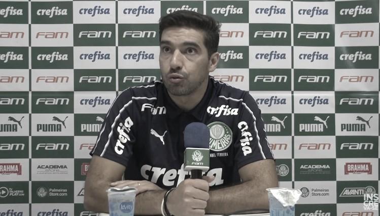 Abel Ferreira após Goiás 2 x 0 Palmeiras (Foto: Reprodução / TV Palmeiras)