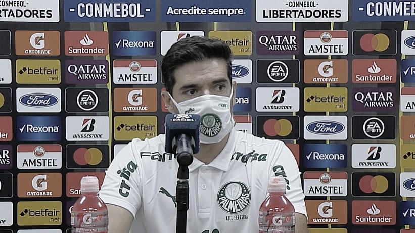 Abel Ferreira após Delfín 1 a 3 Palmeiras (CONMEBOL/Divulgação)