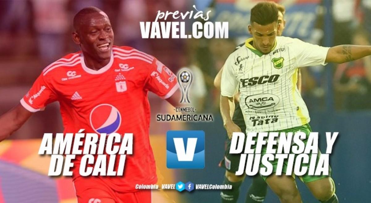 Previa América de Cali vs Defensa y Justicia: los 'diablos' quieren avanzar de fase en la Sudamericana