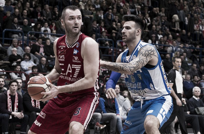 Risultato finale EA7 Milano - Banco di Sardegna Sassari in Lega Basket serie A 2016/17 (86-77)