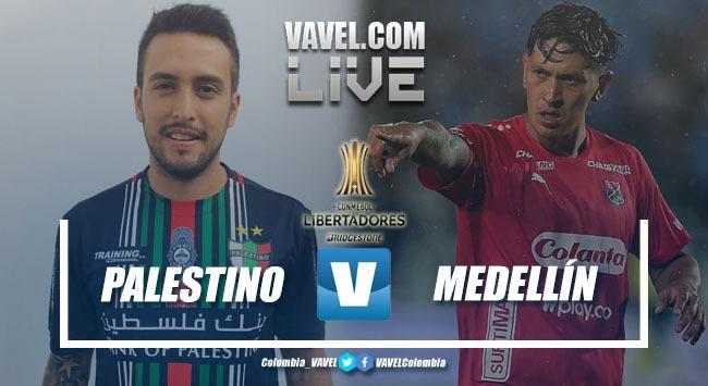 Resumen Palestino vs Medellín por la Copa Libertadores (1-1)