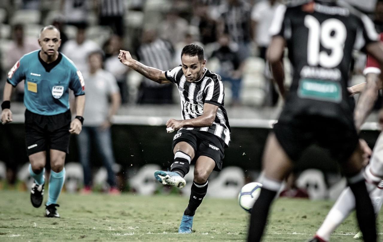 Após marcar na vitória sobre o Inter, Mateus Gonçalves já pensa no Fortaleza