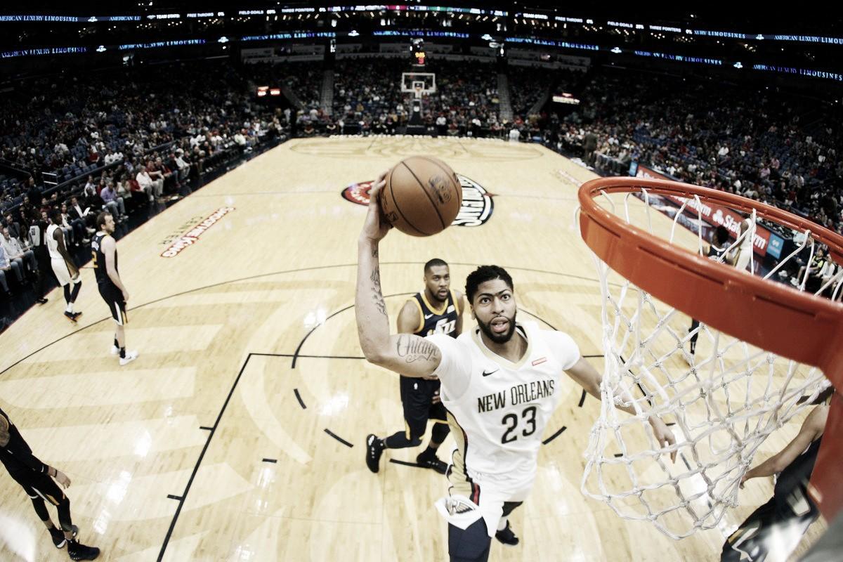 NBA, Davis non basta contro i Jazz. Denver facile sui Kings