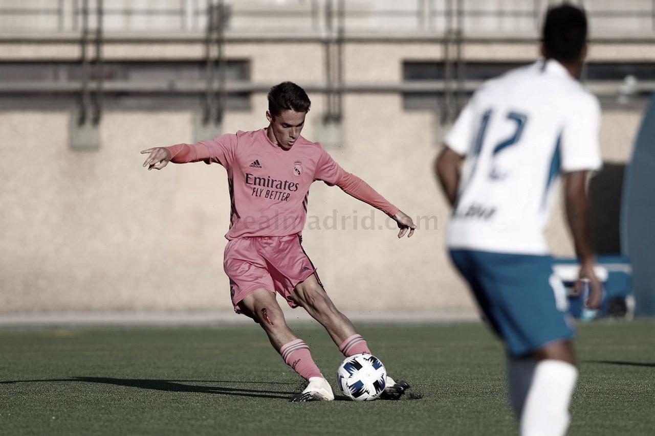 Sergio Arribas anota su primer gol con el Real Madrid Castilla