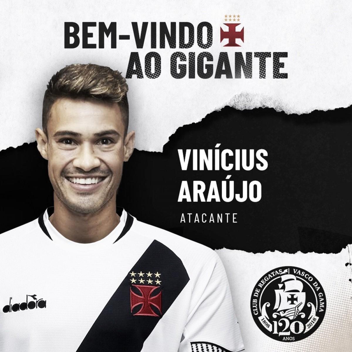 Ex-Cruzeiro, atacante Vinícius Araújo é anunciado pelo Vasco até o fim de 2019