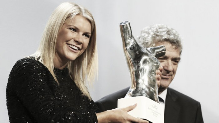 Ada Hegerberg crowned UEFA Best Player in Europe for the 2015/16 season