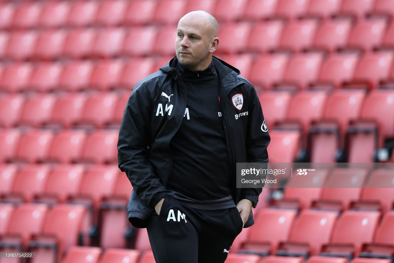 Adam Murray during Barnsley's encounter at home to Bristol City on the 17th October  (Photo by George Wood/Getty Images).