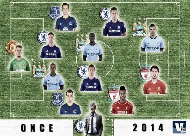 El 'once' ideal de la Premier League en el 2014