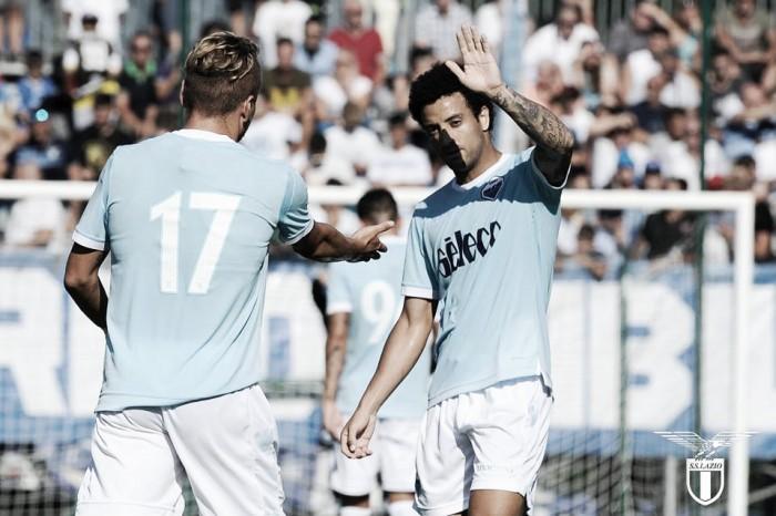 Lazio, è 3-0 contro la Triestina: Milinkovic infortunato, esordio per Lucas Leiva