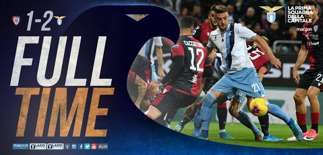 Serie A- La Lazio ribalta il Cagliari nel recupero, Luis Alberto e Caicedo firmano la vittoria (1-2)