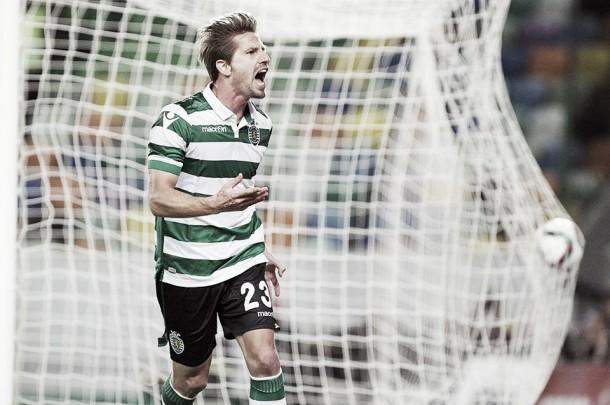 Sporting segura liderança: Num jogo morno, Adrien marcou e Patrício salvou