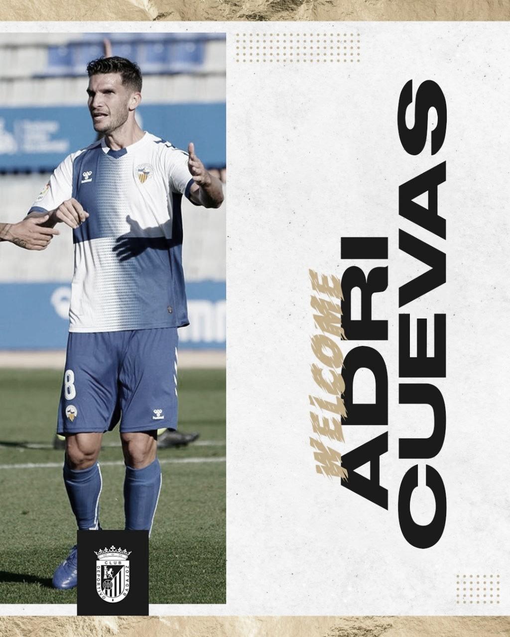 Adri Cuevas, gol, técnica y experiencia para el centro del campo del CD Badajoz