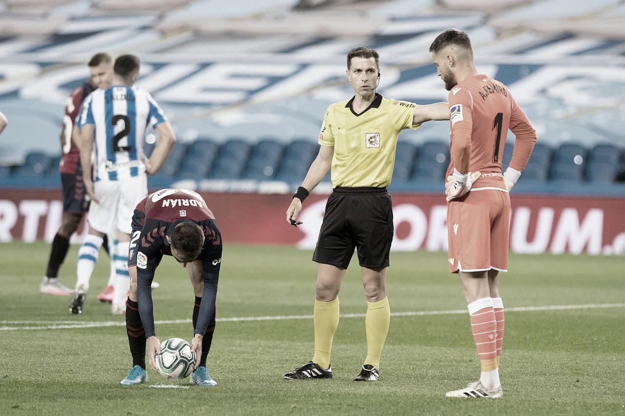 """Adrián: """"En el global, ha sido un gran partido contra uno de los mejores equipos de LaLiga"""""""