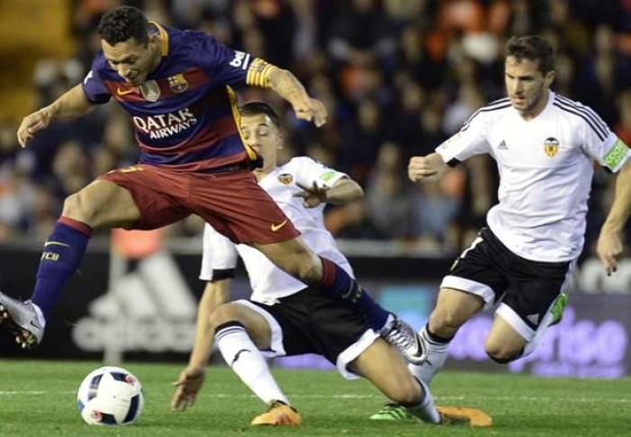 """Coppa del Re, Barcellona prima finalista: 1-1 al """"Mestalla"""""""