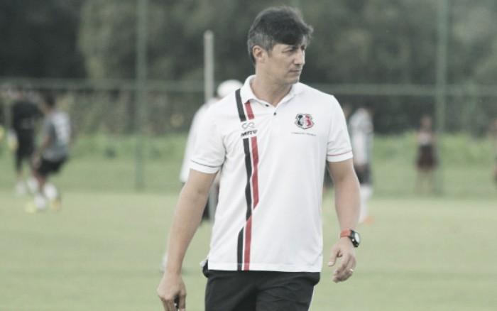 Interino Adriano Teixeira enaltece vontade do Santa Cruz mesmo com derrota para Paysandu