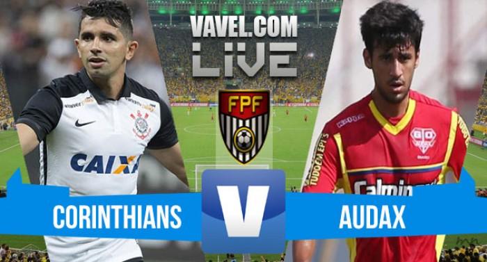 Resultado e gols Corinthians x Audax na semifinal Campeonato Paulista (2-2)