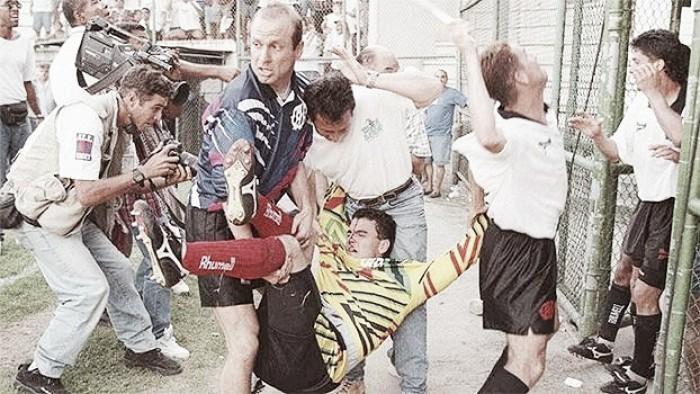 Em 1996, Fluminense e Atlético-PR vivenciaram guerra campal nas Laranjeiras; relembre