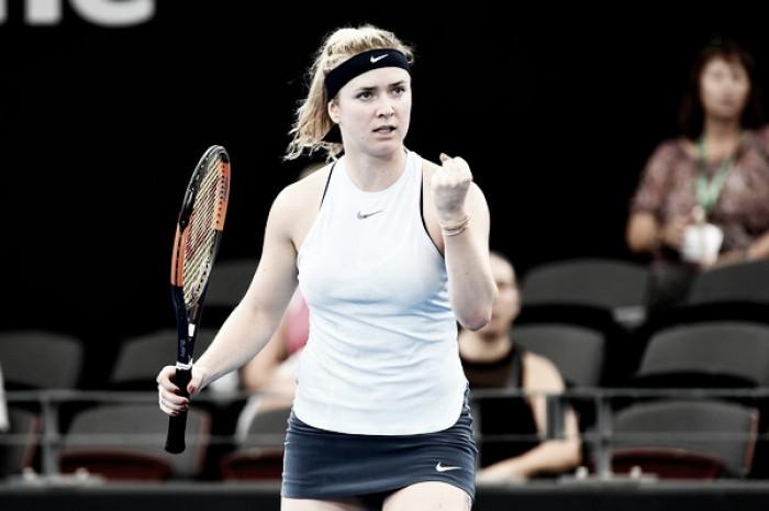 Svitolina consigue su primera victoria del año ante Carla Suárez