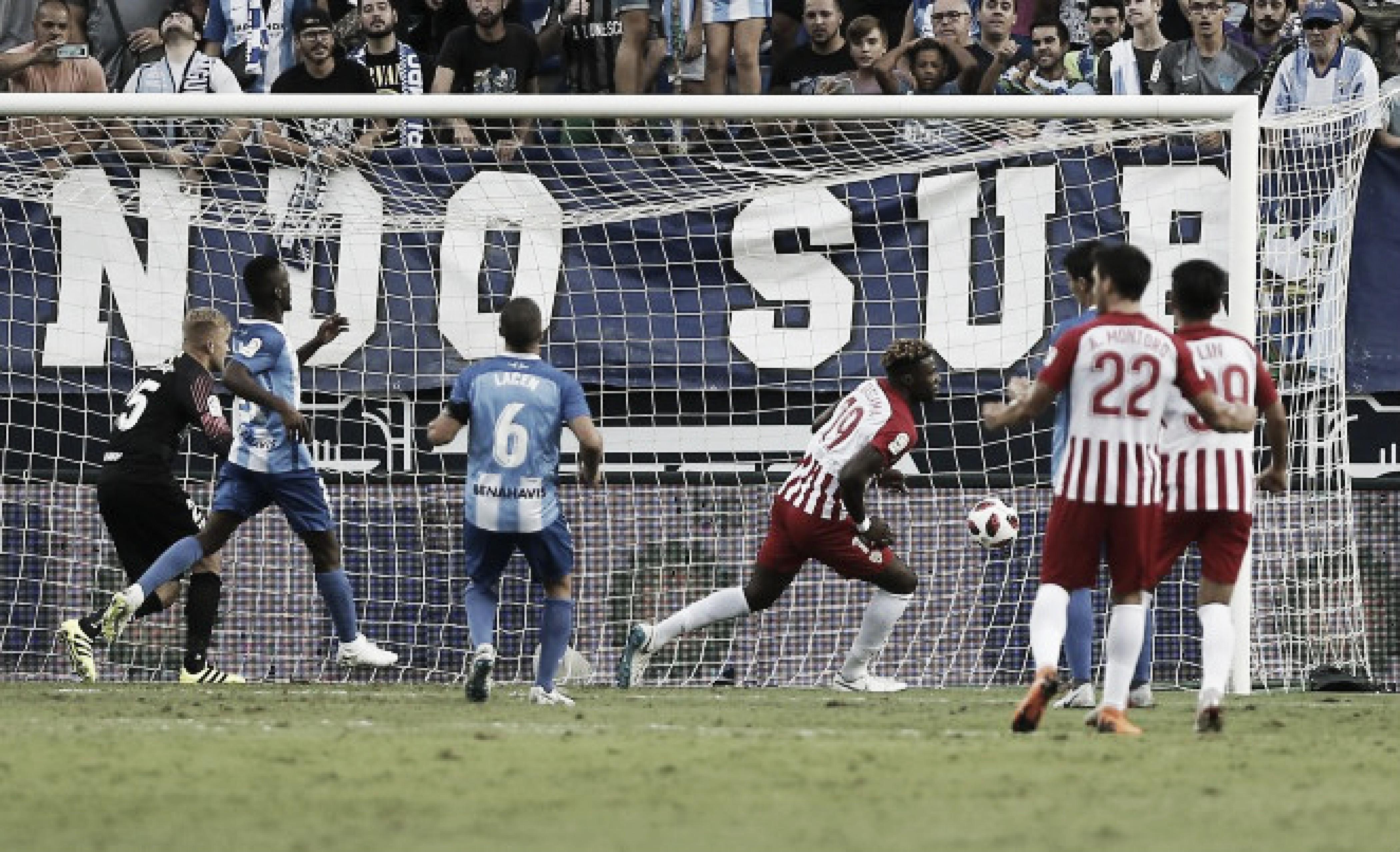 El Almería estrena su casillero de victorias en la Rosaleda