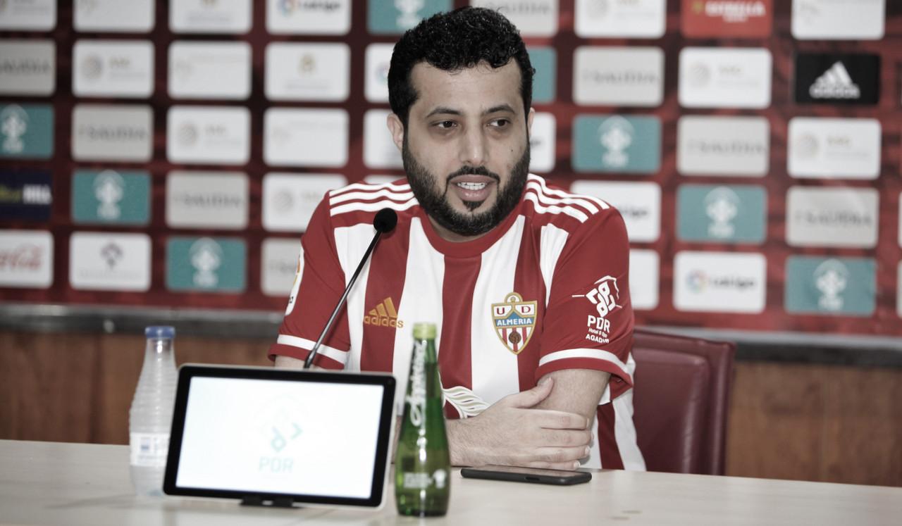 """Turki Al Sheikh: """"Si el Barcelona tiene la Masía, el Almería tendrá la Rozam Academy"""""""