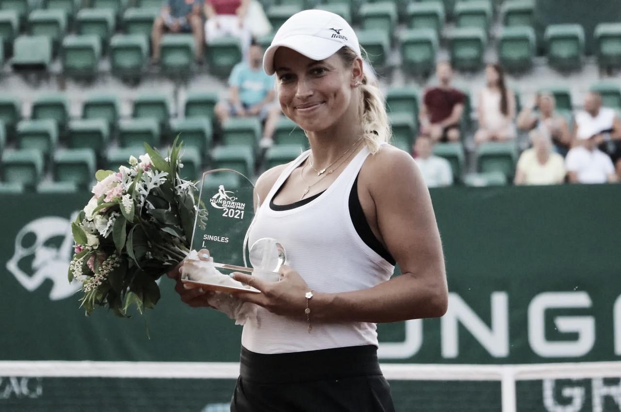 Putintseva freia embalo de Kalinina e fatura título do WTA 250 de Budapeste